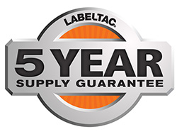 5 Year warranty on LabelTac Supplies