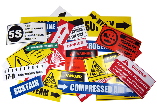 Multi-Color Labels and Signs